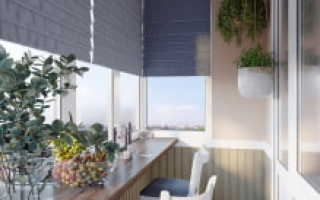 Барная стойка вместо балконного окна