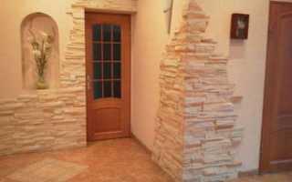 Как отделать угол стены декоративным камнем