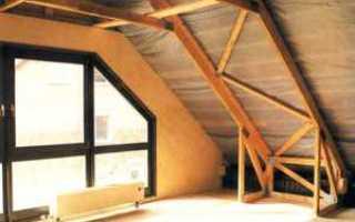 Как сделать крышу мансардного типа