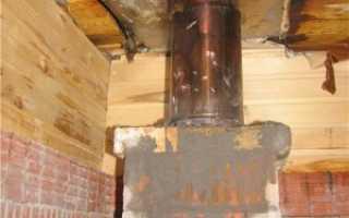 Проходной стакан для дымохода через стену