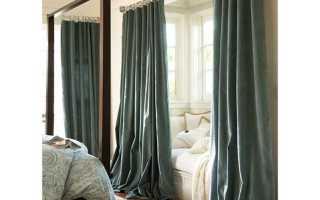 Как должны висеть шторы от пола?