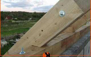 Способы крепления мауэрлата к стене из газобетона
