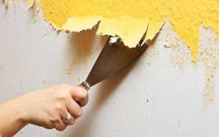 Как отодрать старую краску со стен