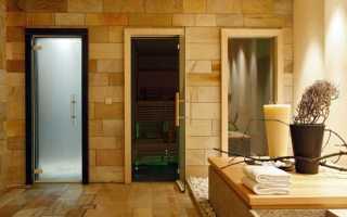 Как установить стеклянную дверь в сауну?
