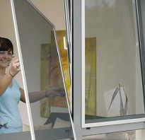 Как снять сетку с пластикового окна