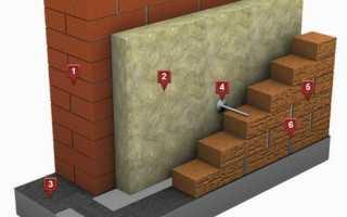 Трехслойные стены с кирпичной облицовкой