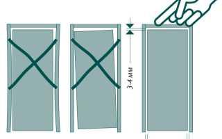 Как увеличить зазор между дверью и коробкой?