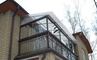 Кровля балкона последнего этажа