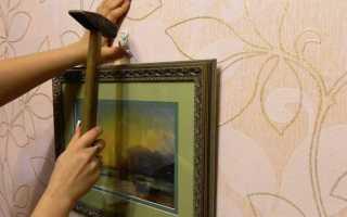 Способы крепления картин к стене без сверления