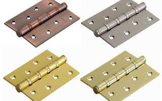 Как установить накладные петли на межкомнатные двери?