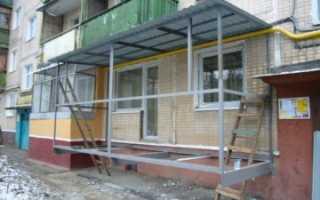 Сколько стоит проект балкона на первом этаже
