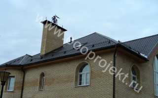 Укладка металлочерепицы на ломаную крышу