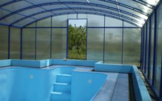 Крыша для бассейна из поликарбоната своими руками