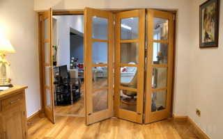 Какие бывают двери гармошка?