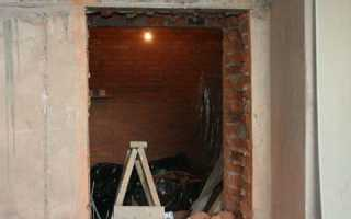 Как вырезать окно в кирпичной стене