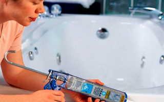 Как устранить течь между ванной и стеной