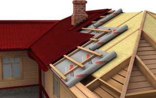 Теплая крыша из профнастила