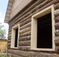 Установка окон в деревянном доме с окосячкой