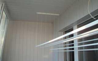 Бельевые веревки на балкон своими руками