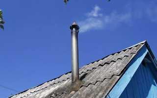 Как закрепить трубу дымохода к стене