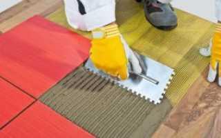 Можно ли укладывать плитку на деревянный пол?