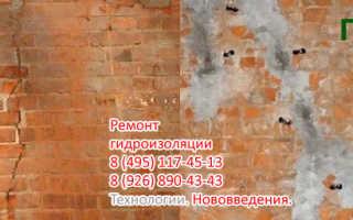Влагоизоляция стен изнутри