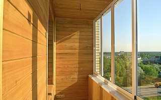 Сколько стоит отделать балкон вагонкой