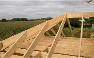 Постройка крыши дома крепления балок