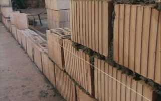 Максимальная высота стены в полкирпича