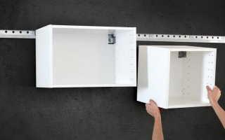 Как повесить кухню на стену из гипсокартона