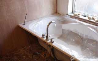 Как прикрепить акриловую ванну к стене