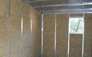 Утеплитель для стен гаража изнутри