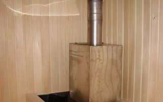 Как установить трубу в бане через крышу