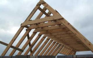 Как делать стропила двускатной крыши