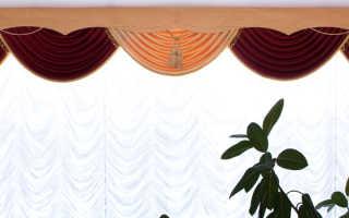 Как крепить ламбрекен к потолочному карнизу