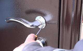 Как починить дверную ручку с защелкой?
