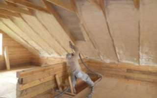 Утепление крыши изнутри пенополиуретаном