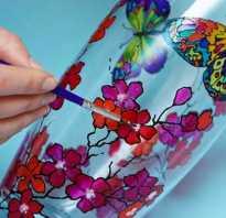 Витражные краски по стеклу как пользоваться?