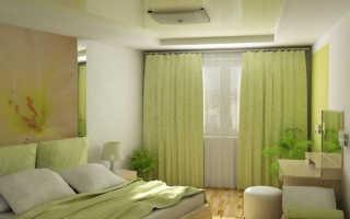 Зеленые обои в спальне какие шторы подойдут?