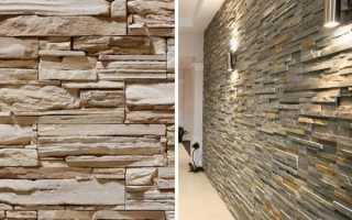 Как клеить искусственный камень на стену