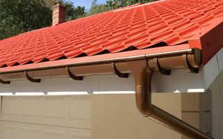 Крепление водостоков после монтажа крыши