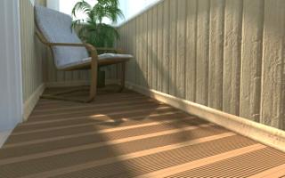 Как укладывать террасную доску на балконе