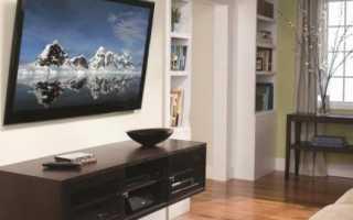 Как прикрепить телевизор к стене без кронштейна