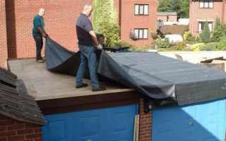 Чем покрыть крышу гаража из бетонных плит