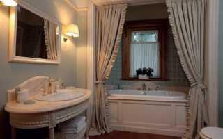 На какой высоте вешать карниз в ванной