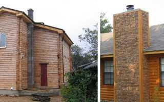 Как провести дымоход через деревянную стену