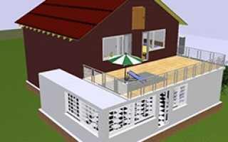Как сделать открытый балкон над верандой