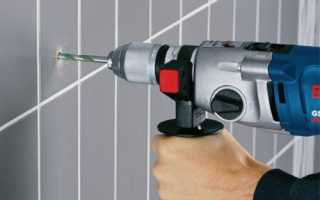 Как сверлить керамическую плитку на стене