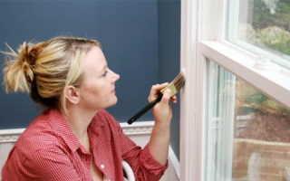 Покраска деревянных окон своими руками