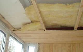 Утепление потолка на балконе своими руками
